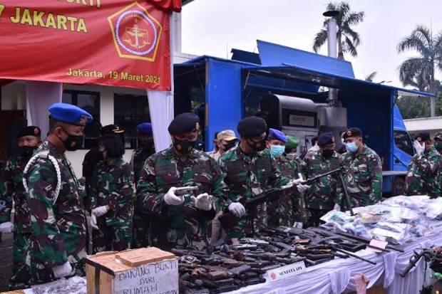 Ratusan Bukti Perkara Pidana Militer Dimusnahkan, Ada Narkoba dan Senjata Api