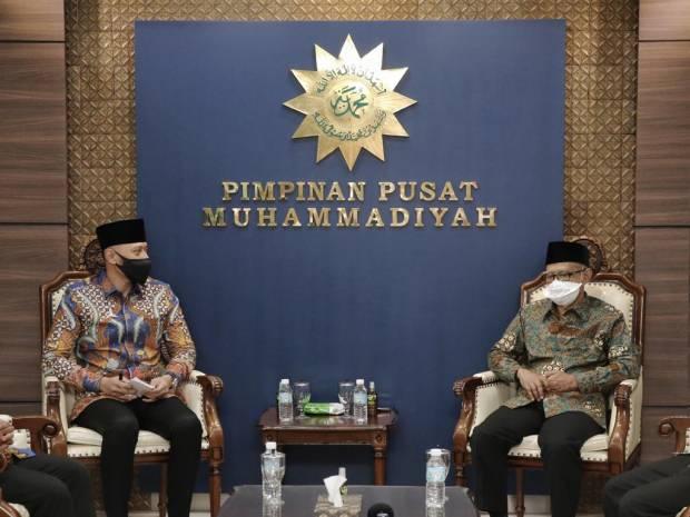 Silaturahmi dengan Ketum PP Muhammadiyah, AHY Diskusikan Empat Hal