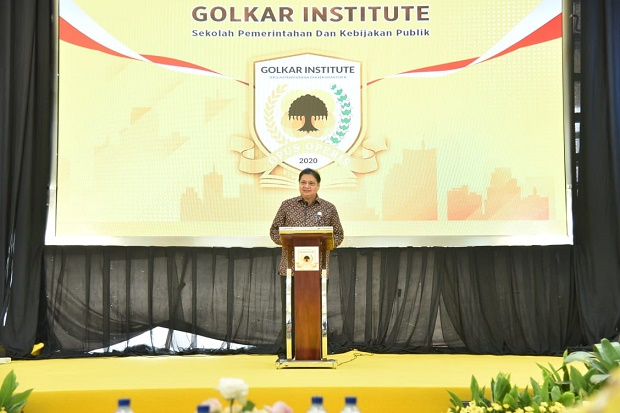 Airlangga Hartarto Resmi Buka Program Sekolah Partai Golkar Institute