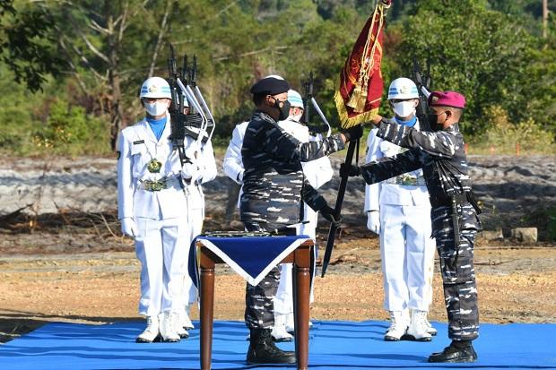 Usai Tinjau Serbuan Amfibi Marinir, KSAL Resmikan Puslatpurmar-9 Dabo Singkep