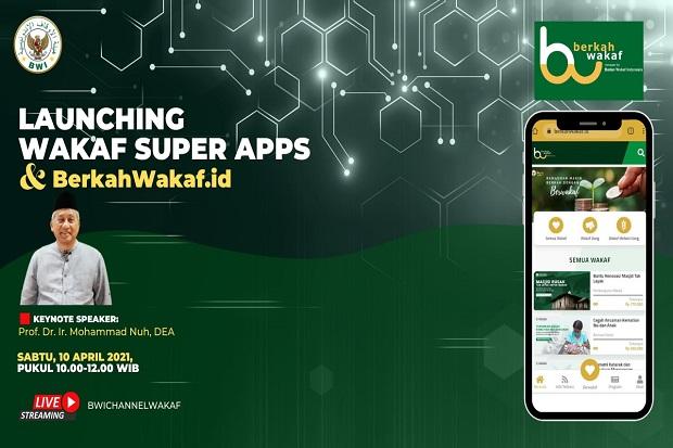 Permudah Masyarakat Berwakaf, BWI Luncurkan Layanan Digital Wakaf Super Apss