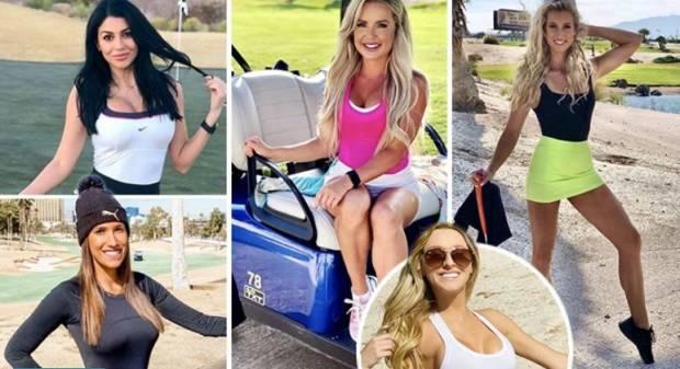 Fenomena Model Cantik Las Vegas Jadi Caddy Golf Bertarif Rp2,8 Juta