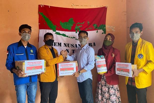 BEM Nusantara Beri Bantuan Logistik Sembako untuk Korban Bencana Alam NTT