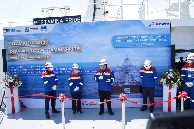 Menteri BUMN Resmikan VLCC Pertamina Pride, Tanker Raksasa Siap Salurkan Energi