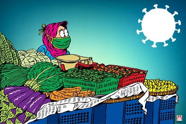 Pedagang Pasar Curhat: Dilarang Mudik Apa Gak, Jualan Tetap Sepi!