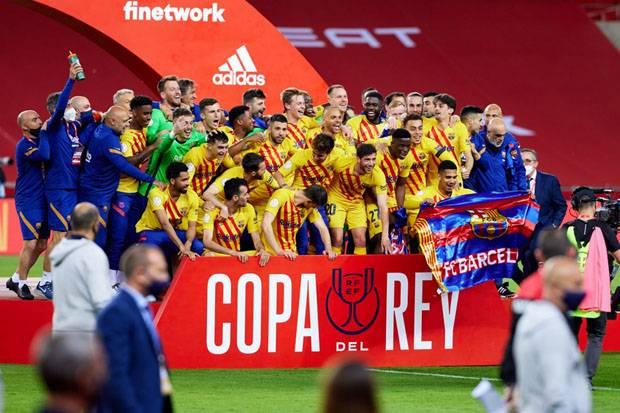 Messi Antar Barcelona Rebut Gelar Copa del Rey ke-31, Koeman: Mudah-mudahan Bukan Laga Terakhirnya