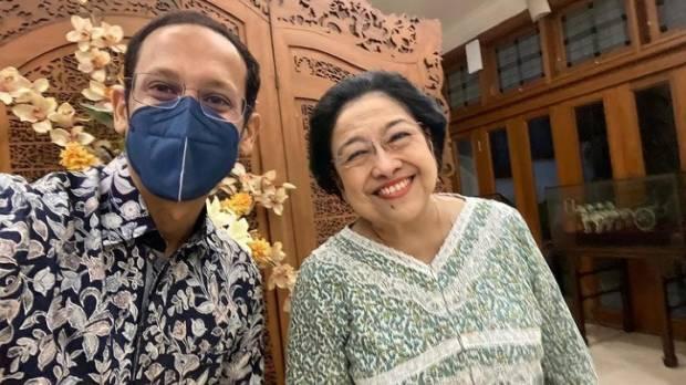 Nadiem Makarim Unggah Foto Bareng Megawati, Warganet: Dijamin Lolos dari Reshuffle