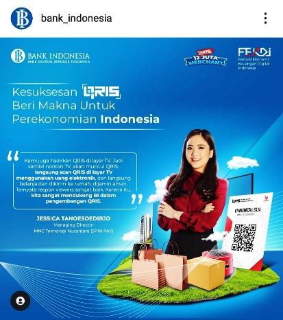 Bank Indonesia: Sudah Coba Belanja Lewat Televisi? Jessica Tanoesoedibjo: Kami Hadirkan QRIS di TV!
