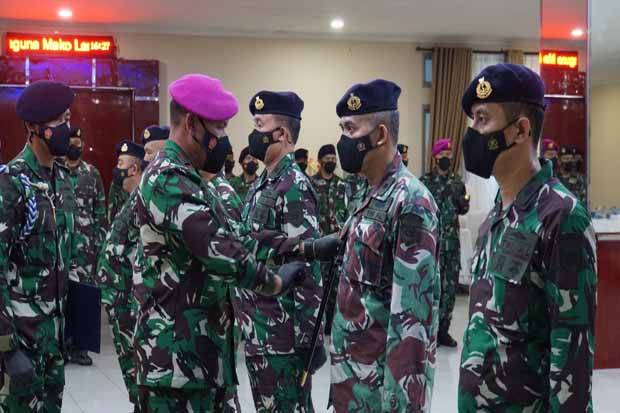 Brigjen TNI Umar Farouq Pimpin Serah Terima 5 Jabatan Struktural Lantamal III Jakarta