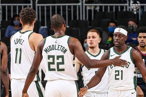Hasil Lengkap Pertandingan NBA, Jumat (23/4/2021) WIB: Bucks Menggila, Lakers Merana