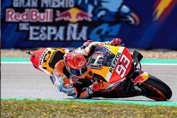 Nyeri Pada Bagian Bahu dan Leher, Marquez Akhiri Tes MotoGP Lebih Cepat
