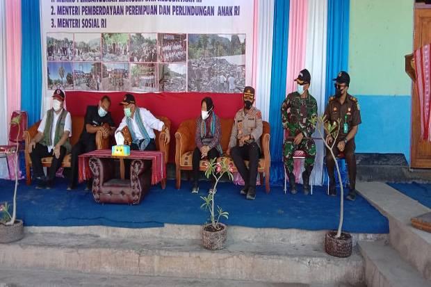 3 Menteri Kunjungi Korban Banjir Bandang di Kabupaten Alor
