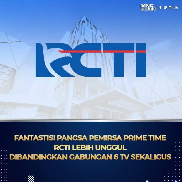 MNCN Fantastis! Pangsa Pemirsa Prime Time RCTI Lebih Unggul Dibandingkan Gabungan 6 TV Sekaligus