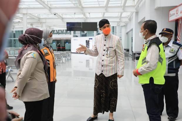 Ganjar Sidak ke Bandara Ahmad Yani, Minta SOP Diperbaiki