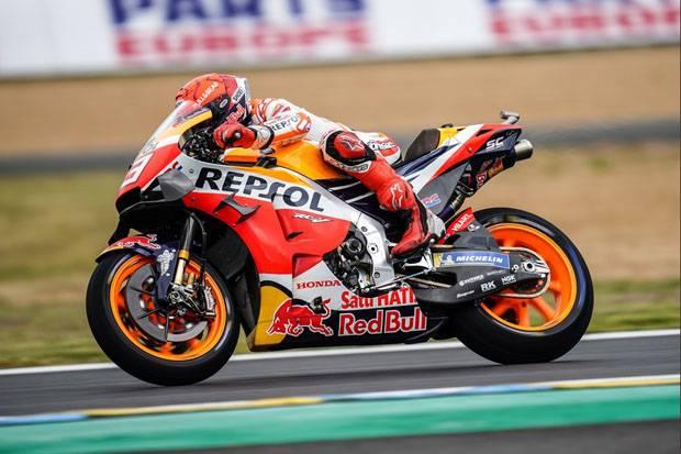 Pertama Kali Marquez Pimpin Latihan Bebas Ketiga Jelang MotoGP Prancis