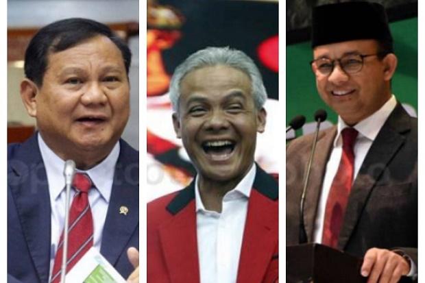 Klasemen Papan Survei Capres Masih Dirajai Prabowo, Ganjar dan Anies