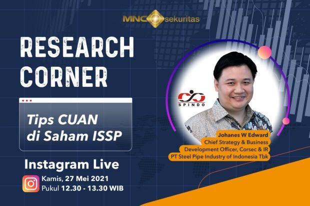 ISSP Ssttt... Ini Tips Cuan Saham ISSP, Simak IG Live Research Corner MNC Sekuritas Pukul 12.30!