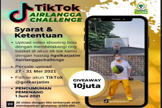 Upload TikTok Airlangga Challenge, Golkar Jatim Akan Beri Hadiah Rp10 Juta