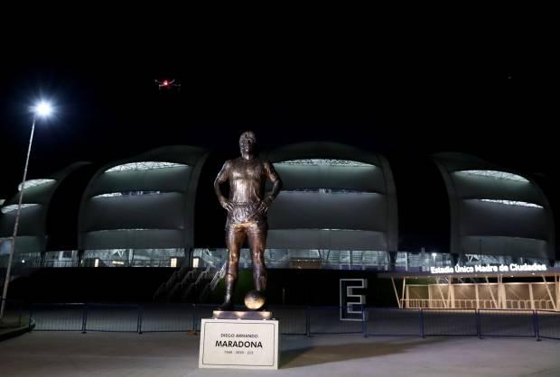 Sebelum Ditahan Chile, Argentina Resmikan Patung Diego Maradona