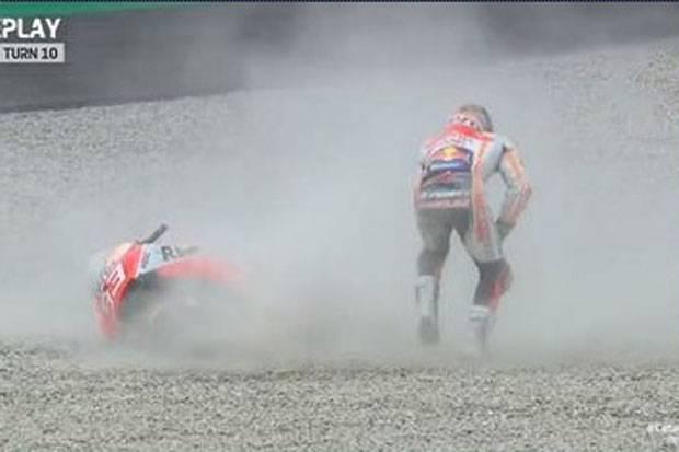 Marquez Beberkan Penyebab Gagal Finis di MotoGP Catalunya