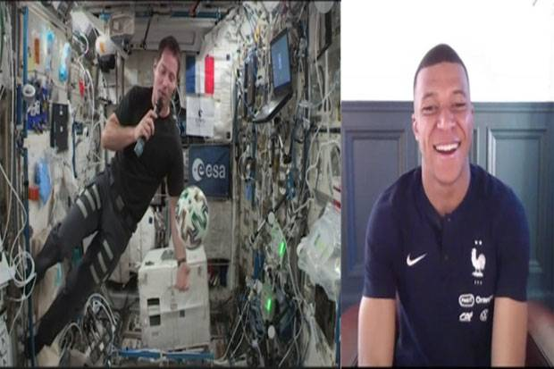 Jelang Piala Eropa 2020, Mbappe Ngobrol Bareng Astronot