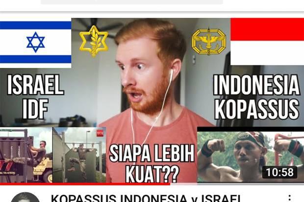 Bandingkan dengan Militer Israel, Youtuber Skotlandia Puji Kopassus
