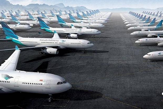 Gimana Gak Mau Bangkrut, Biaya Sewa Pesawat Garuda Termahal di Dunia