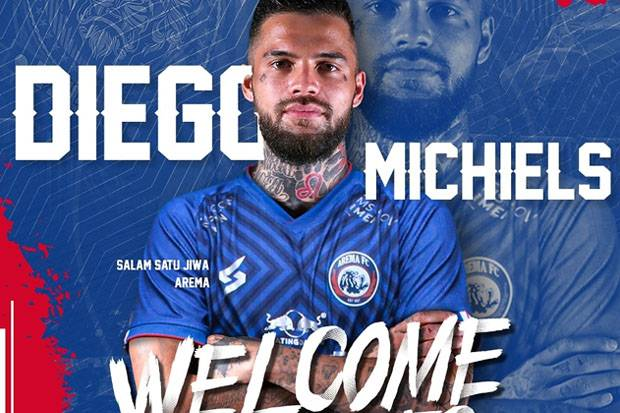 Butuh Figur Senior, Arema FC Resmi Kontrak Diego Michiels