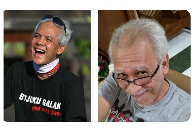 Rambutnya Dikomentari Iwan Fals, Ganjar Pranowo Balas Sebut Sang Idola