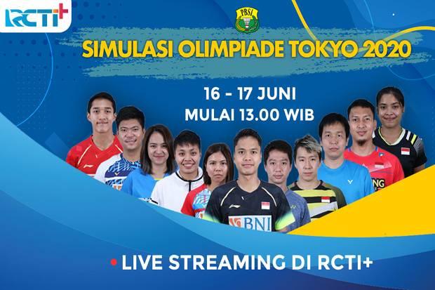 RCTI+ Hadirkan Keseruan Simulasi Bulu Tangkis Jelang Olimpiade Tokyo 2020