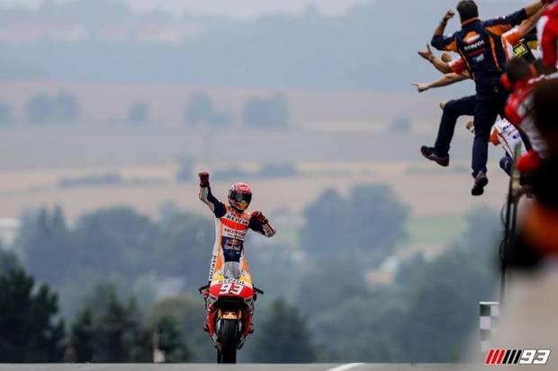 Si Raja Sachsenring Kembali, Marquez Juara di MotoGP Jerman 2021