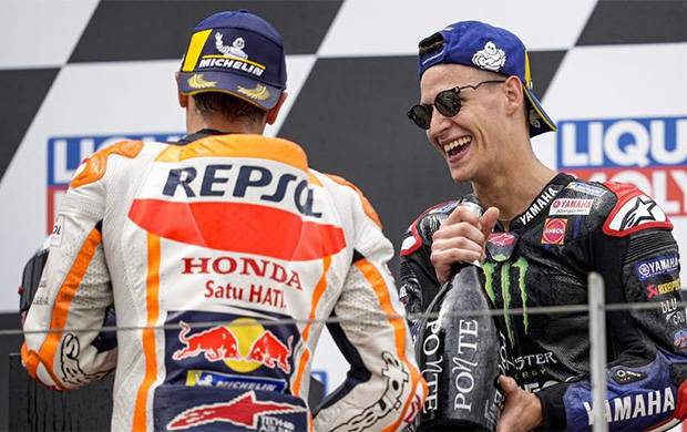 Quartararo Penasaran Resep Sukses Marquez di Sirkuit Sachsenring
