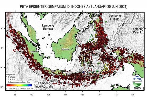 Bmkg Mencatat 4 701 Kali Gempa Bumi Sepanjang 2021