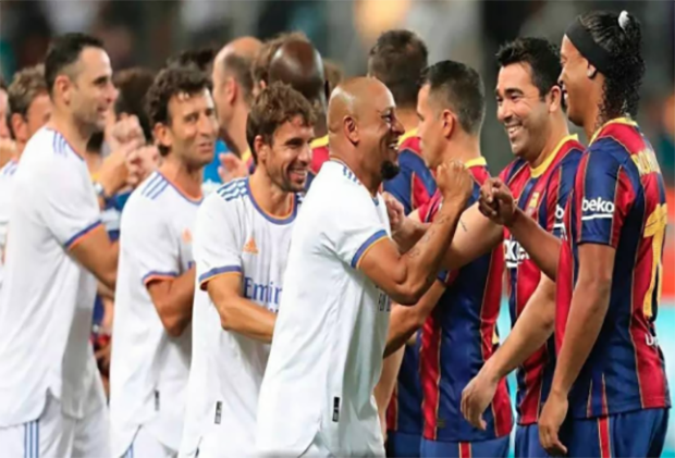 Diperkuat Luis Milla, Real Madrid Leyendas Bekuk Barcelona Legends