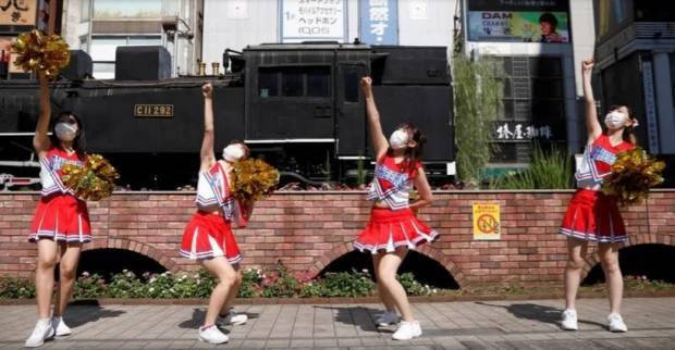 Meriahkan Olimpiade Tokyo 2020, Pemandu Sorak Wanita Jepang Pamer Aksi