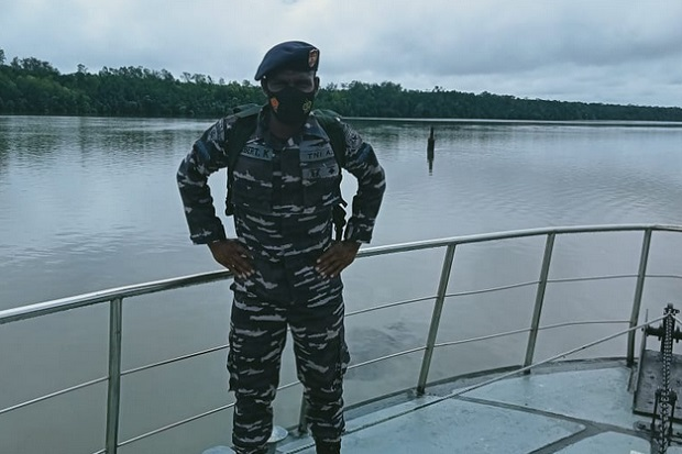 Kisah Kelasi Dua Sepnat Albert, Prajurit Asli Papua yang Jadi Ujung Tombak di Lanal Timika