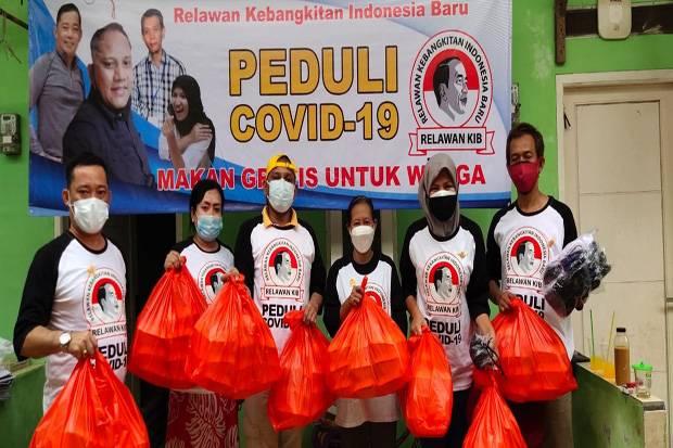 Relawan KIB Jokowi Sediakan 500 Makanan Gratis Tiap Hari bagi Warga Isoman
