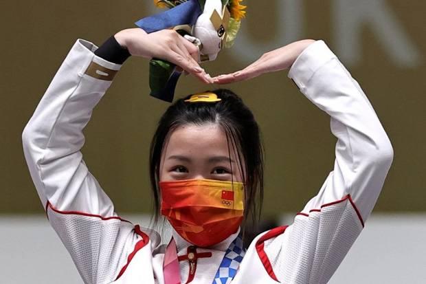 Rebut Emas Pertama Olimpiade Tokyo 2020, Yang Qian: Tembakan Terakhir, Saya Sangat Gugup