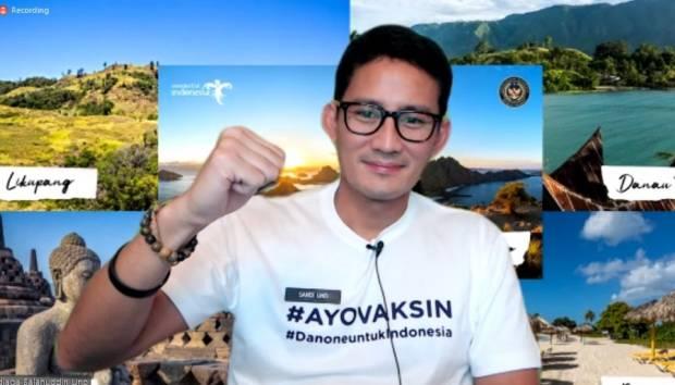 Vaksinasi di Lembang, Sandiaga Uno: Percepat Vaksinasi di Kawasan Wisata