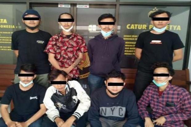 Sok Jagoan, 8 Pemuda Pengeroyok 4 Remaja di Sleman Dijebloskan ke Tahanan