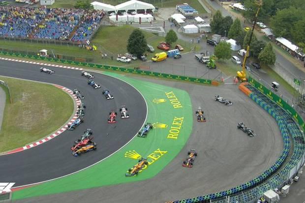 Tabrakan Massal, Lima Pembalap F1 Keluar dari Balapan