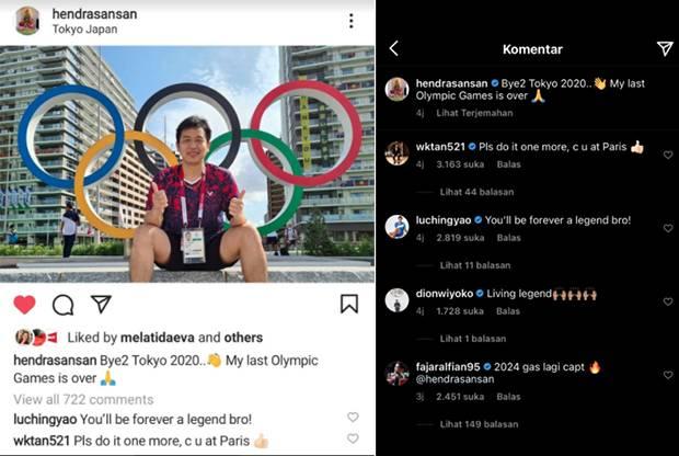 Jangan Pensiun Sekarang, Hendra Setiawan Diminta Main di Olimpiade Paris 2024