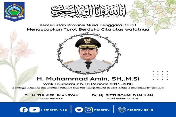 Mantan Wakil Gubernur NTB Muhammad Amin Meninggal Dunia Terpapar COVID-19