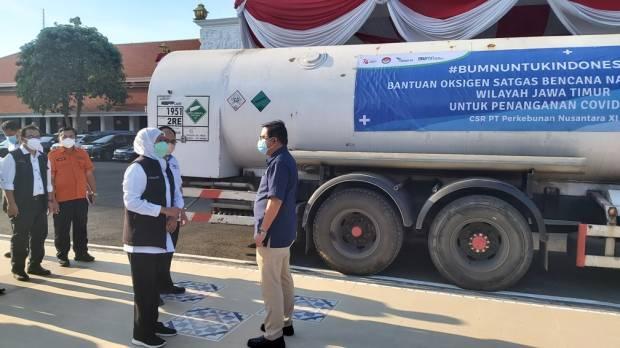 PTPN XI Salurkan 12 Ton Oksigen untuk Rumah Sakit di Jatim
