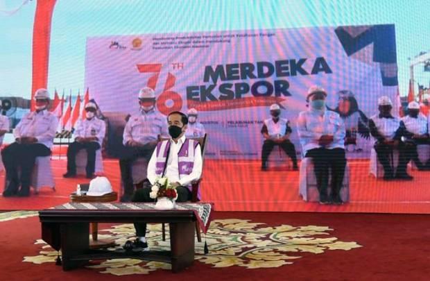 Tumbuh dan Tangguh, Presiden Jokowi Puji Sektor Pertanian Pada Merdeka Ekspor