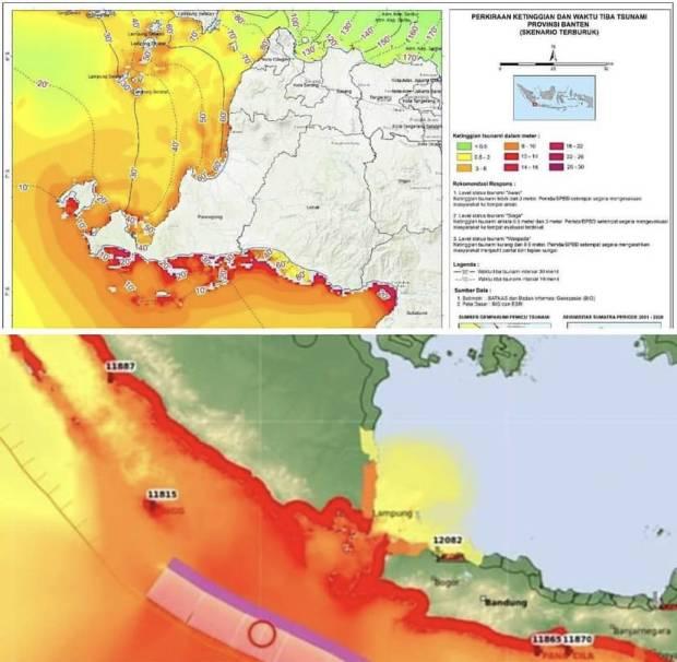 Hasil Pemodelan Bmkg Tsunami Di Selat Sunda Akibat Gempa Magnitudo 8 7 Bisa Sampai Jakarta