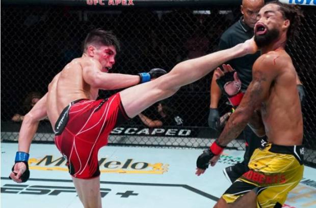 Tendangan Berputar Petarung UFC KO Brutal Musuhnya, Sensasional!