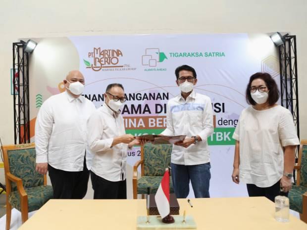 MBTO TGKA Martina Berto-Tigaraksa Satria Incar Potensi Bisnis Rp70 Miliar