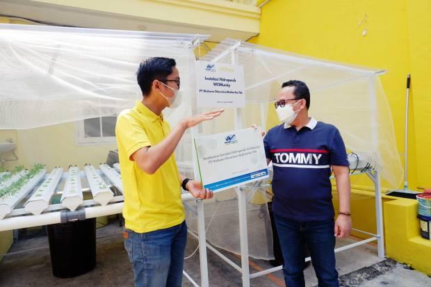 WOMF WOM Finance Bangun Instalasi Hidroponik di 17 Kota