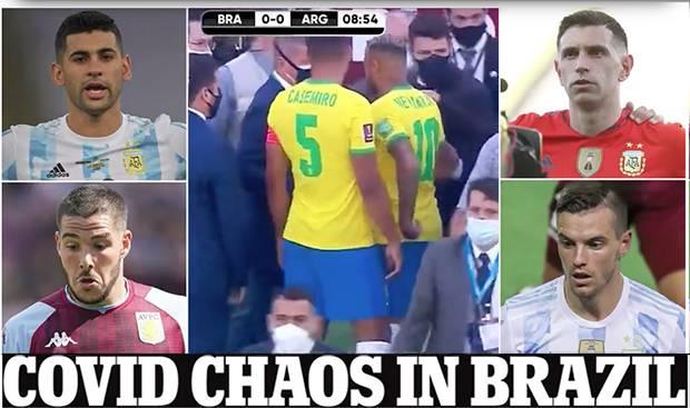 Brasil vs Argentina Dihentikan, 4 Pemain Dijemput Paksa Polisi karena Langgar Prokes